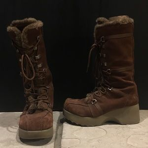 """Report """"Sleigh"""" Suede & Faux Fur Lined Boots"""